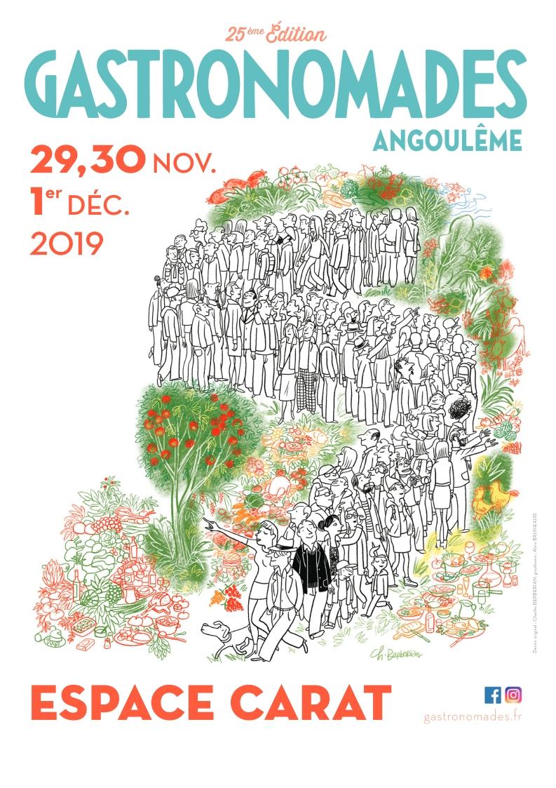 Gastronomades  les 29, 30 novembre et 1er décembre 2019 à l'espace Carat à Angoulême